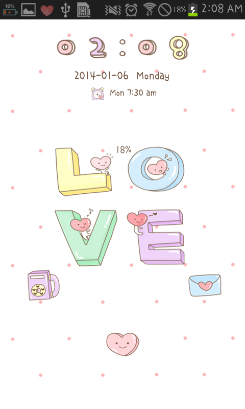 LOVE go locker theme - screenshot