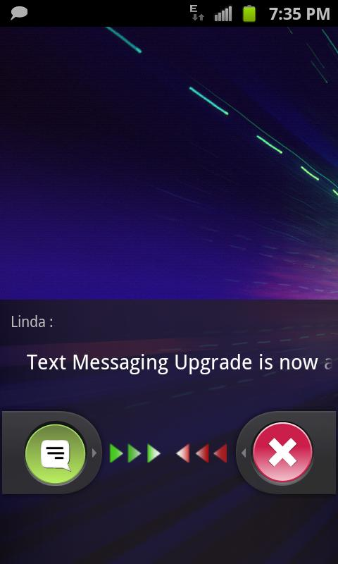 QuickTouch Text Messaging- screenshot