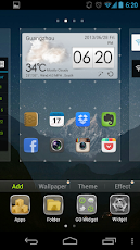 GO Launcher apk time widget