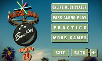 Screenshot of Pass Along Bowling