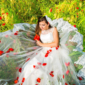 Poppies' Fairy by FIWAT Photography - Wedding Bride ( wedding photography, photoshoot, bride )