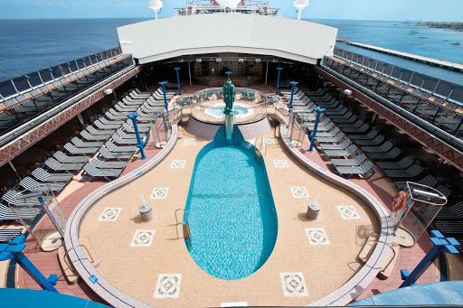Carnival-Legend-Avalon-Pool - Cool off in the Avalon Pool, one of Carnival Legend's three swimming pools.