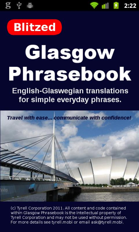 Glasgow Phrasebook- screenshot