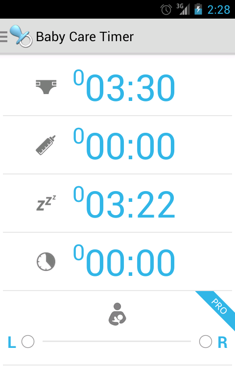 Baby Care Timer Lite- screenshot