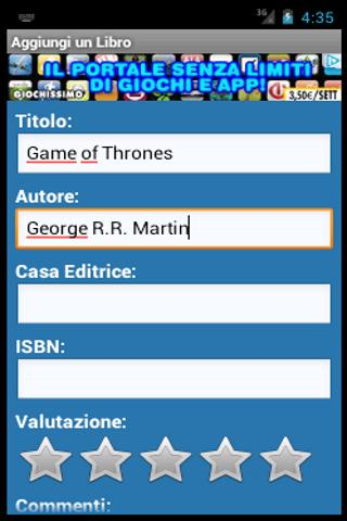 Libreria Digitale- screenshot