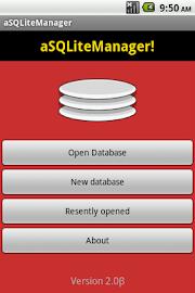 aSQLiteManager Screenshot 1