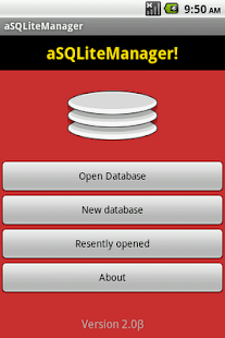 aSQLiteManager Screenshot 1