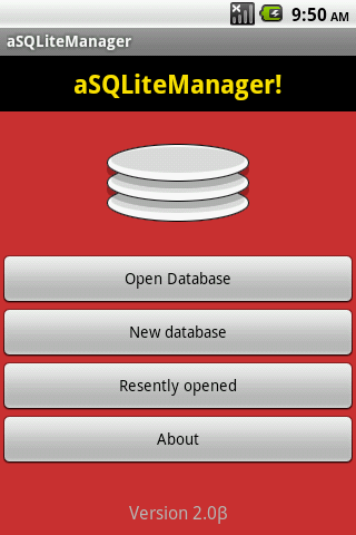 aSQLiteManager - screenshot