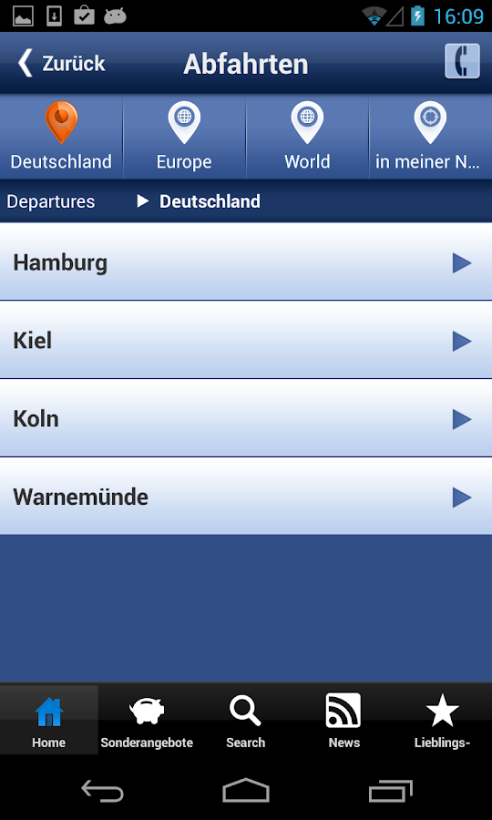 Ticketkreuzfahrten – Screenshot