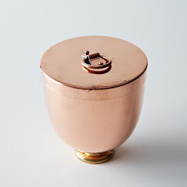 Vintage Copper Ice Cream Bombe c1880
