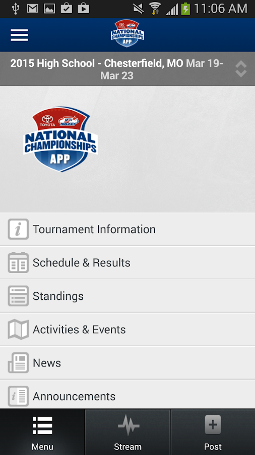 Toyota USA Hockey Nationals- screenshot