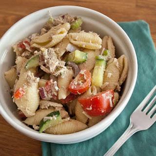 Creamy Balsamic Chicken Pasta Salad.