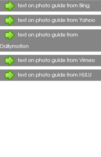 text on photo guide
