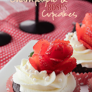 Champagne and Roses Cupcakes.