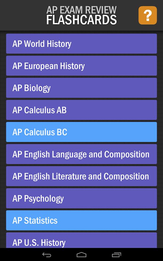 AP Exam Review Flashcards- screenshot