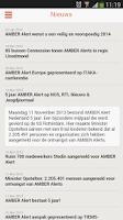 Screenshot of AMBER Alert