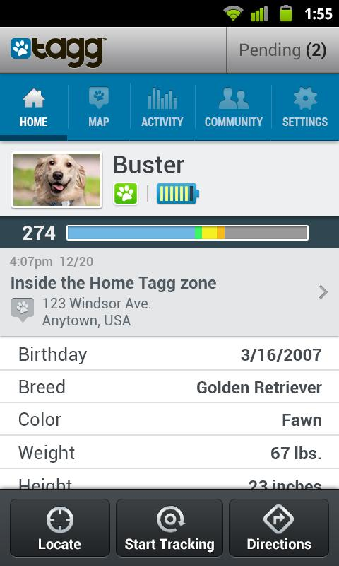 Tagg—The Pet Tracker™ - screenshot