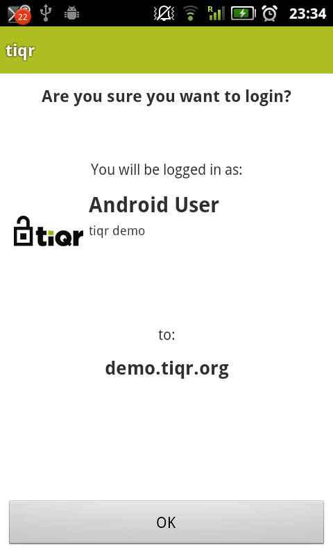 tiqr- screenshot