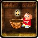 Chicken egg Catcher: Farm Game icon