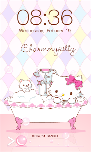 Charmmy Kitty Bath Screen Lock