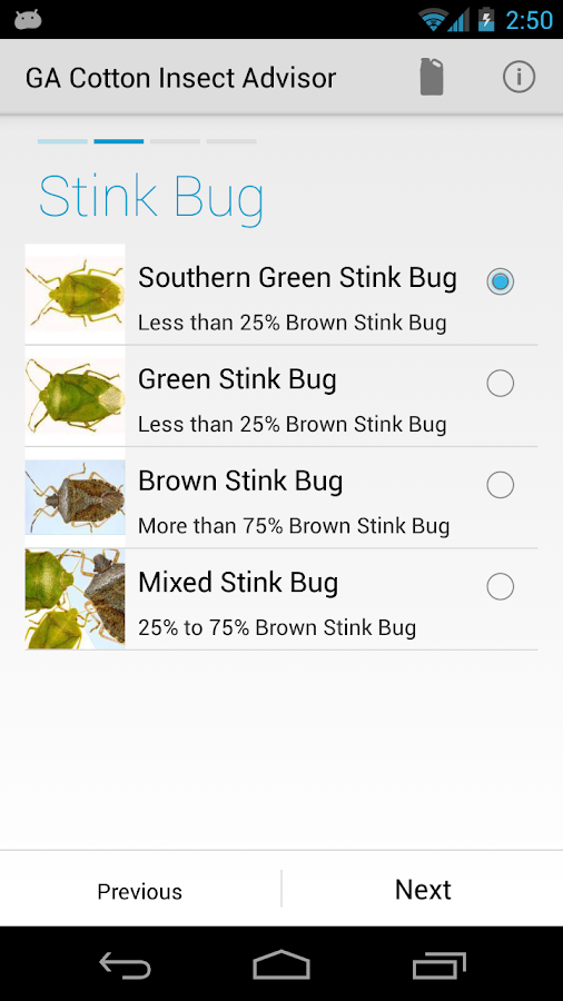 GA Cotton Insect Advisor- screenshot