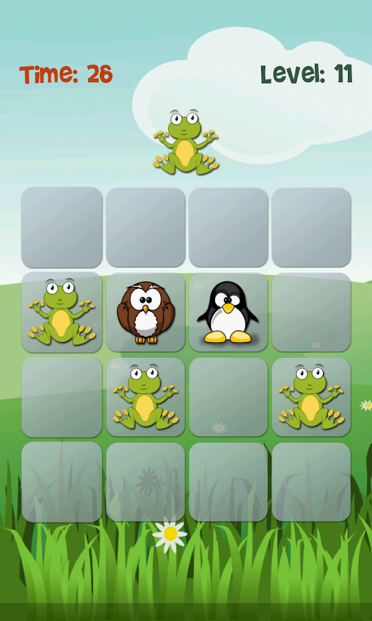 Bob's Memory game- screenshot