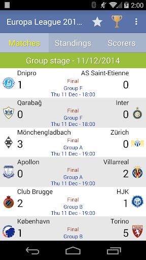 Europa League 2014 2015