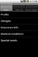 Screenshot of Health Master Free