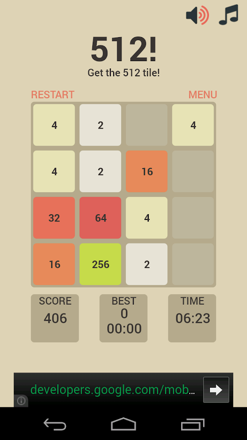512! - 2048 for Kids- screenshot