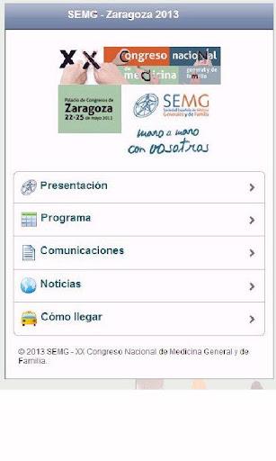 SEMG Congreso Zaragoza 2013