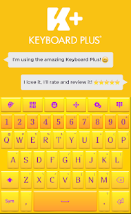 Yellow HD Keyboard - náhled