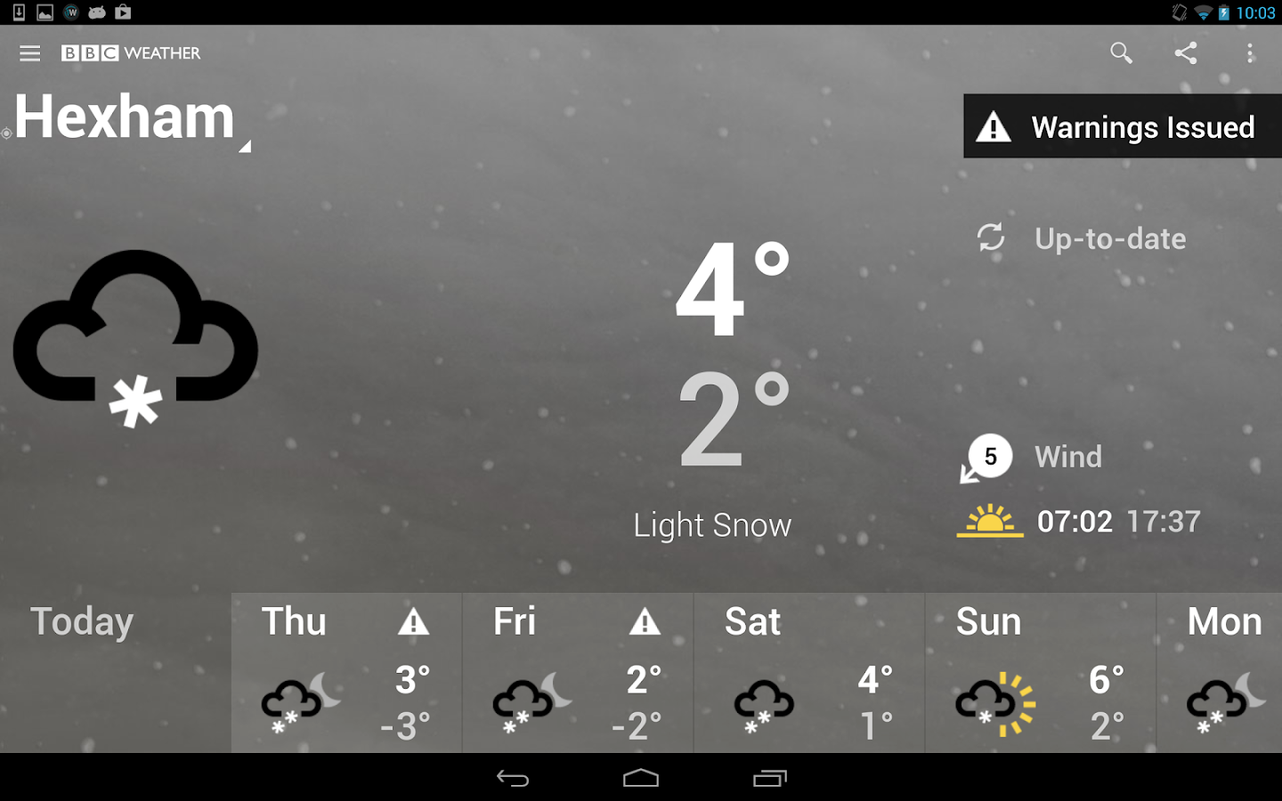 BBC Weather- screenshot