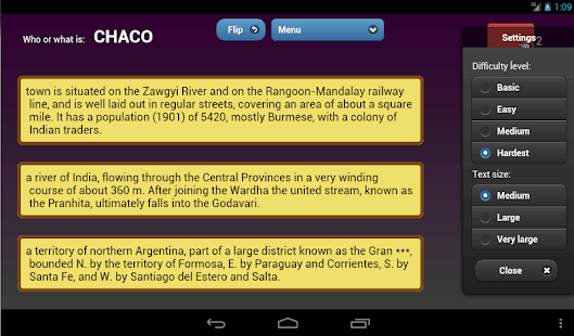 English Encyclopedia Quiz demo - screenshot thumbnail
