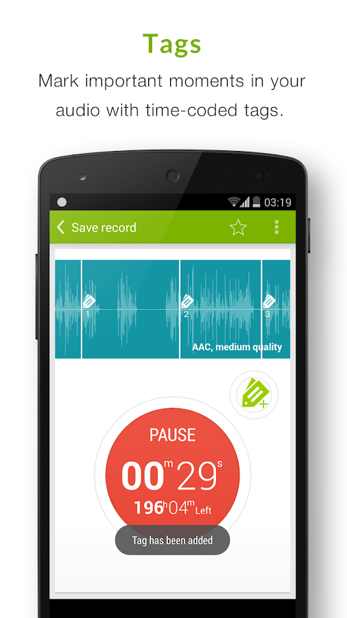 Recordense Voice Recorder Lite- screenshot