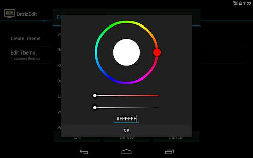 DroidEdit (free code editor) Capture d'écran