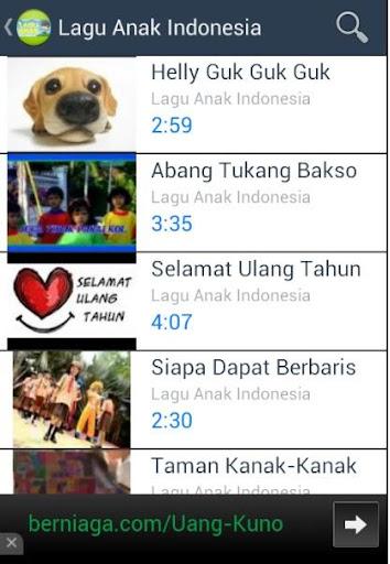 【免費媒體與影片App】Lagu Anak Indonesia-APP點子