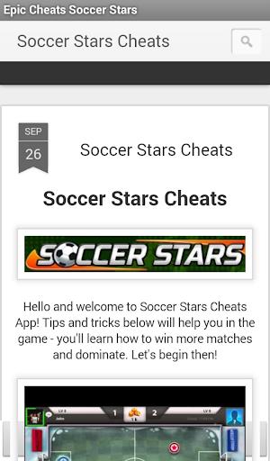 Epic Cheats Soccer Stars