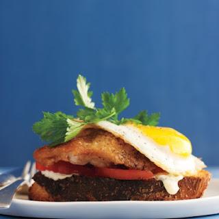 Crispy-Chicken and Egg Sandwich