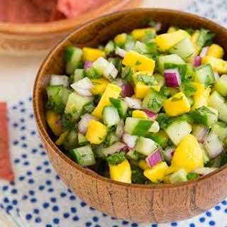 Cucumber Mango Salsa.