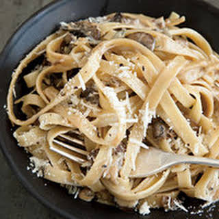 Double Mushroom and Marsala Cream Fettuccine.