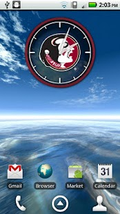 Florida State Seminoles Clock - screenshot thumbnail