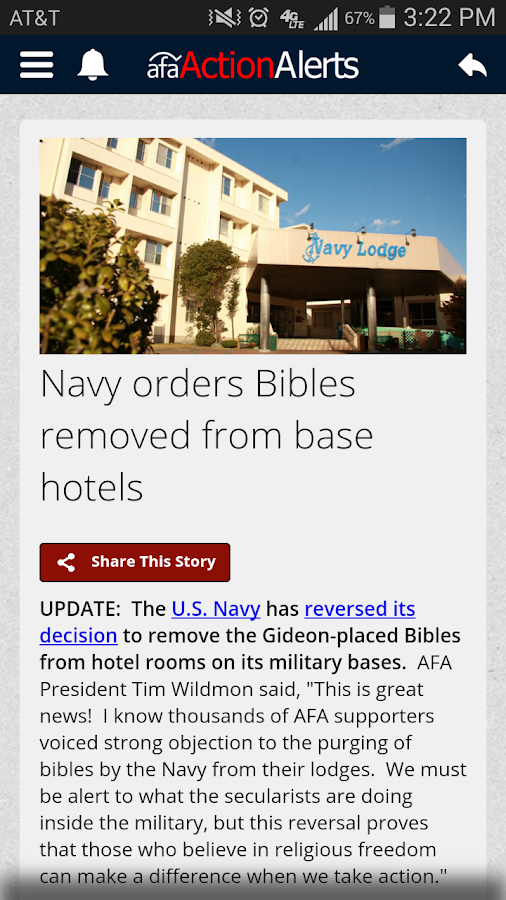 Action Alerts - screenshot