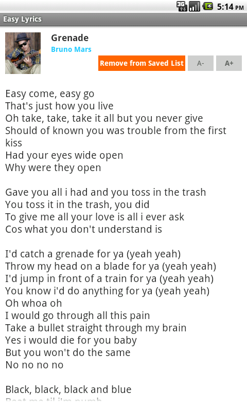 Easy Lyrics - screenshot