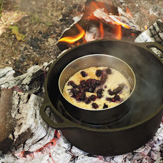 Wild Blueberry Steamed Pudding.