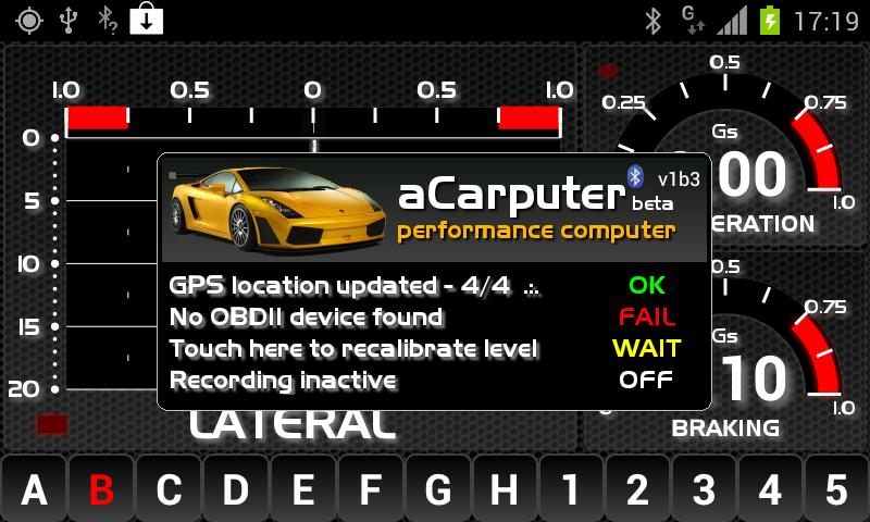 aCarputer GPS OBD2- screenshot