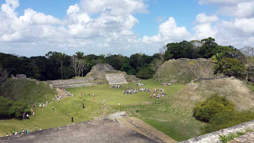 Part of the Altun Ha Mayan ruins in Belize.