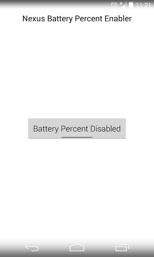 Nexus Battery Percent Enabler - screenshot