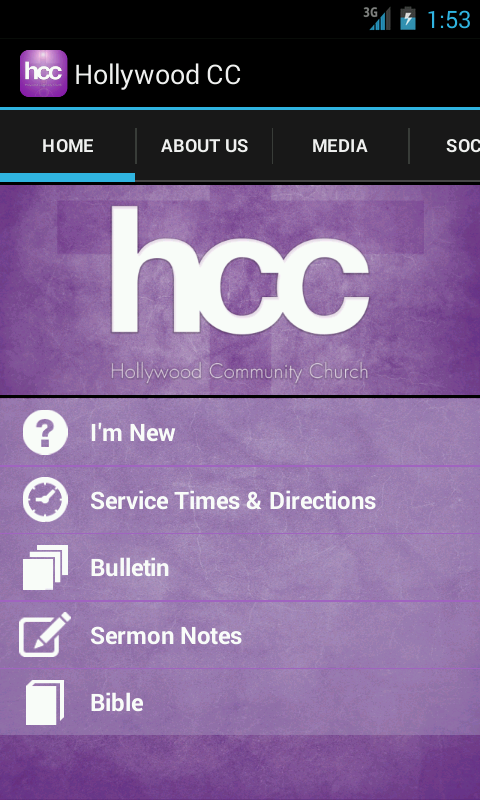 Hollywood Community Church- screenshot