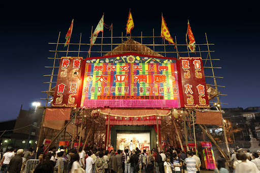 Hong-Kong-West-Kowloon-Bamboo-Theatre - The West Kowloon Bamboo Theatre in Hong Kong.