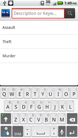 PALaw - Title 18 - Criminal Screenshot